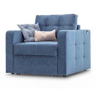 """Комфортное кресло, которое трансформируется в удобное гостевое спальное место. Модель выглядит очень актуально и необычно благодаря интересной комбинации утяжеки строчек. Дизайн модели универсален кресло будет гармонично смотреться как в минималистичном или ориентальном интерьере, таки в комбинации с предметами современной классики. Купить Кресло Blest """"ИНДИ"""" КЛ недорого. Купить мебель. Интернет магазин мебели NaPolkah.com.ua"""