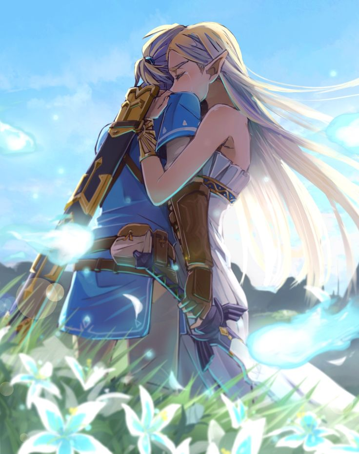 okay I know Legend of Zelda isn't an anime but how can I not this is so sweet and cute. #breathofthewild #linkandzelda