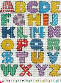 ♥Meus Gráficos De Ponto Cruz♥: Monogramas em Patchwork Ponto Cruz