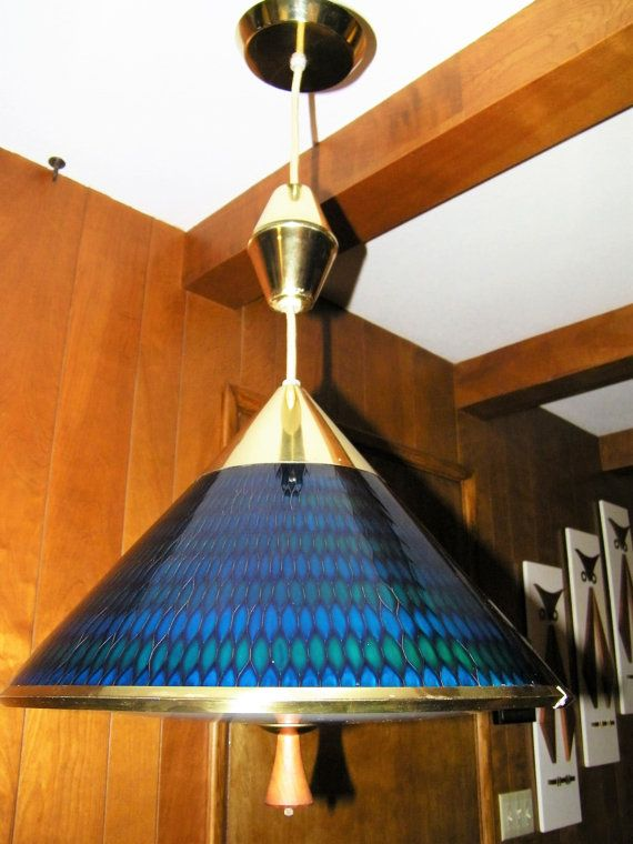 MOE Honeycomb Retractable 60s 70s Pulldown Kitchen Light Pull Down 1960s 1970s L& Mid Century Modern Eames Pendant Lighting Ceiling Mount & 279 best Luscious MCM Lighting images on Pinterest   Mid century ... azcodes.com