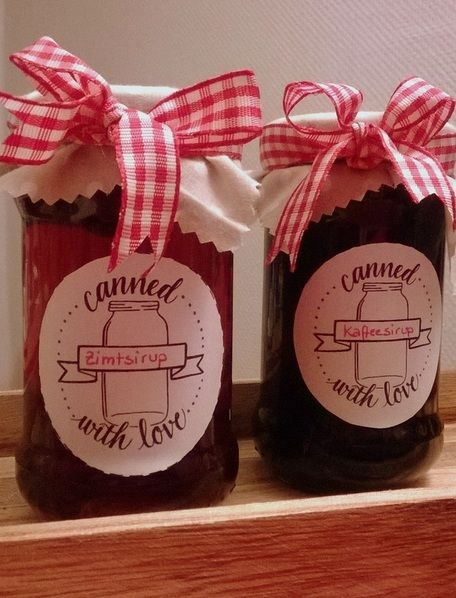 Zimtsirup & Kaffeesirup Schönes Geschenk oder einfach lecker für Tee, Eis und Dessert , sowie Pfannkuchen!