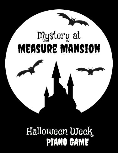 """Free piano teaching game - reinforce """"missing beats in a measure"""" - great for Halloween week lessons!"""