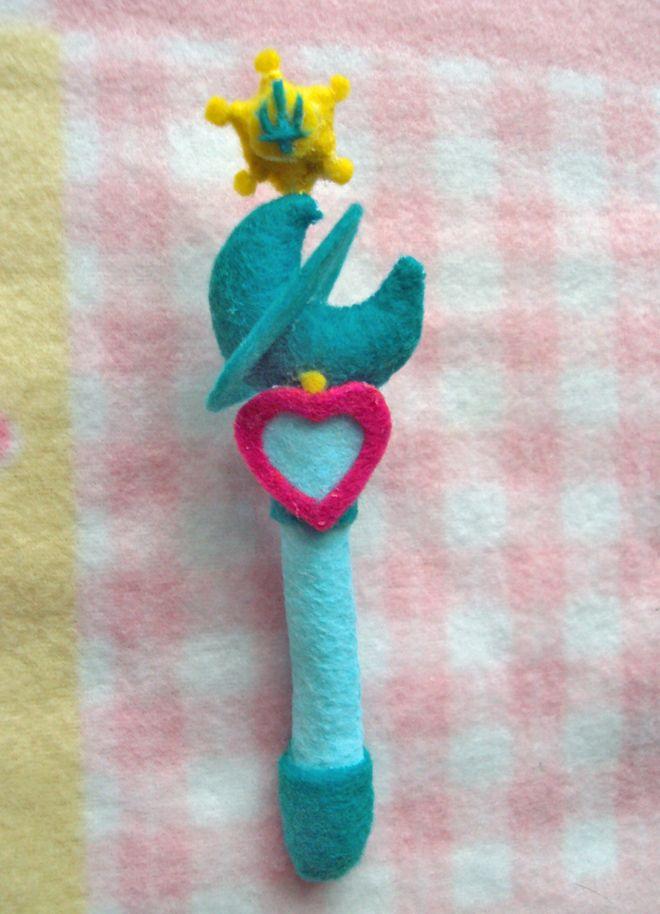 Sailor Neptune Plush Custom Henshin Wand by aleena