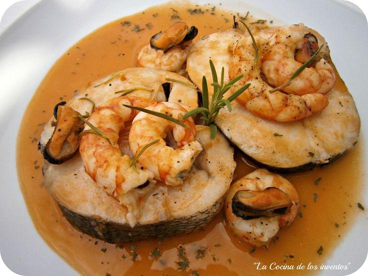 La Cocina de los inventos: Merluza con salsa de Gambas al vapor con Lékué