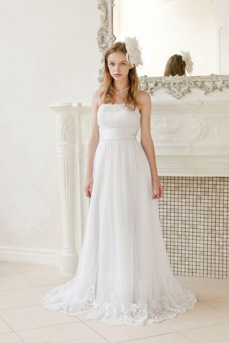 控えめなラインが可憐なエンパイアドレス♡花嫁衣装に着たいエンパイアウェディングドレスのまとめ一覧♡