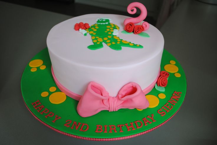 Dorothy the Dinosaur Cake for my niece's birthday