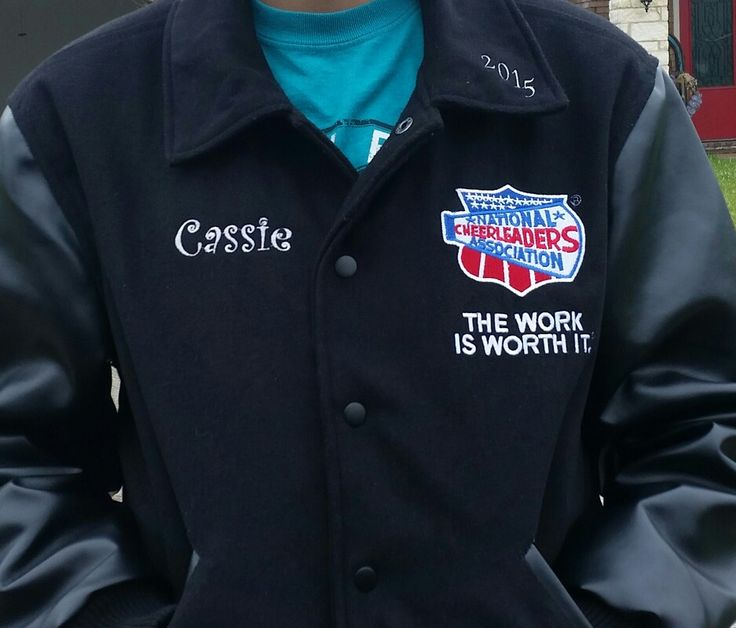 NCA cheer jacket, name and year added to make it her own style.