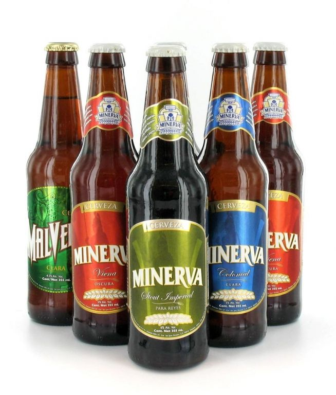 Cerveza Minerva. Extraordinaria cerveza de Guadalajara México. YA TODAS