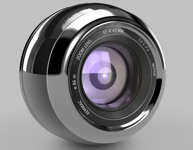 3D Camera Lens   3D Model