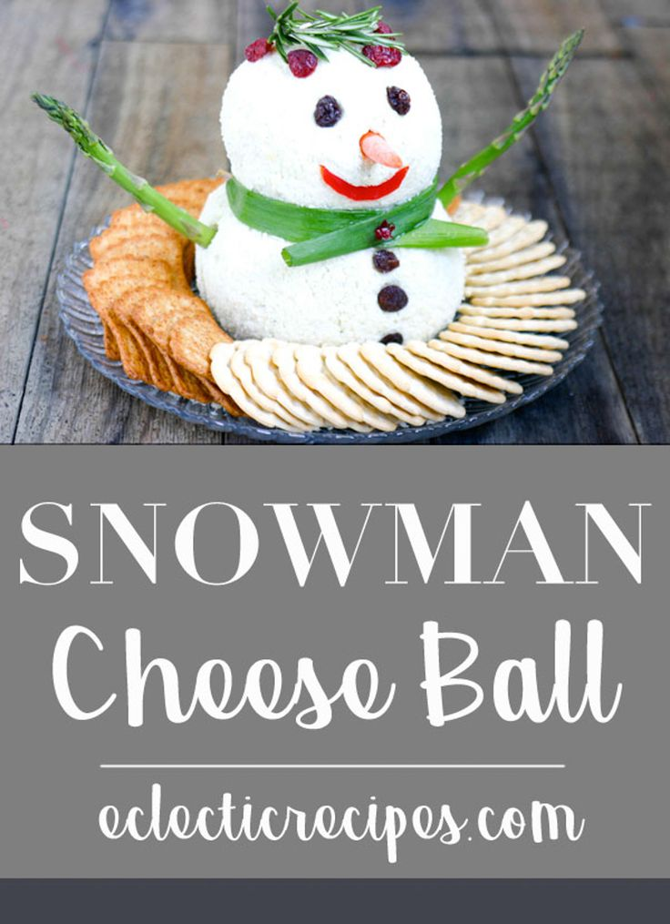Eclectic Recipes Snowman Cheese Ball | Eclectic Recipes