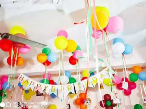 Simple Birthday Decoration Ideas At Home For 1st Kids