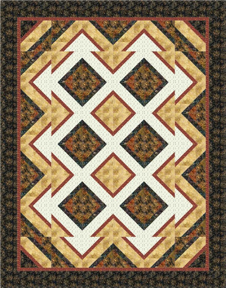 Pattern: Shattered. Quilt size: 72x92. Block size 10
