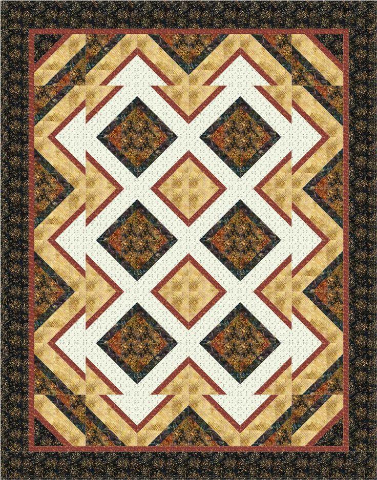 Super Easy Beginner Quilt Patterns : Pattern: Shattered. Quilt size: 72x92. Block size 10