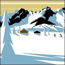 Charlie Adam - Cross Country - ski poster