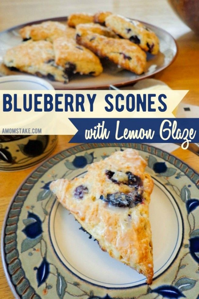 Blueberry Scones with Lemon Glaze Recipes a perfect, absolutely delicious breakfast recipe that's also great for brunch! Watch our video tutorial that will take you through each step.