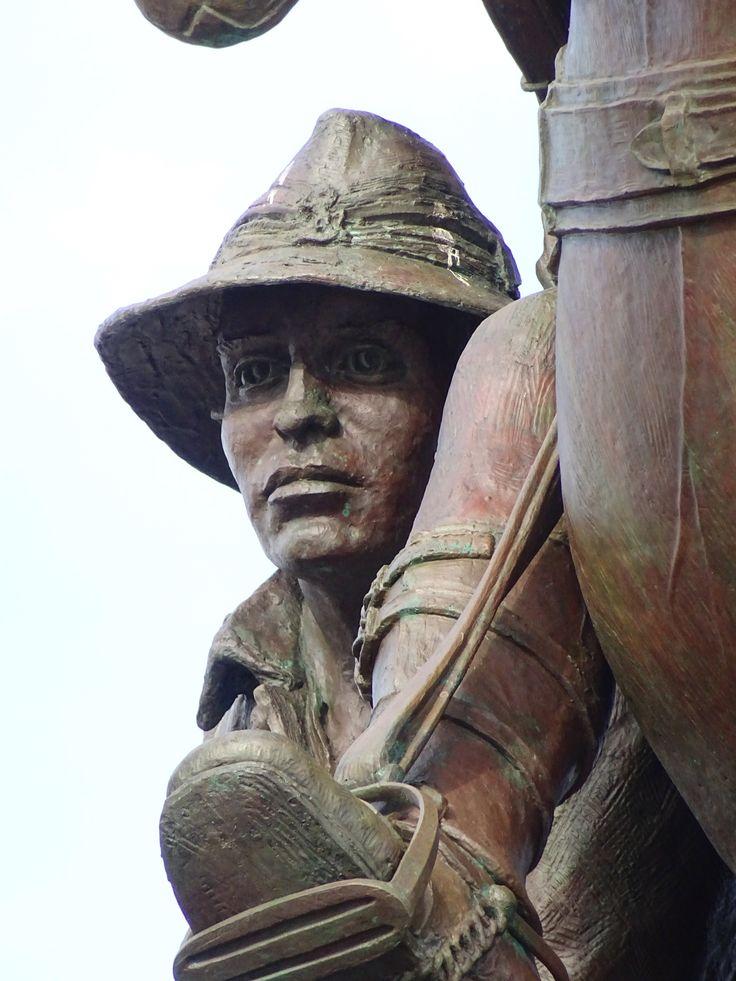 Detail-Desert Mounted Corp Memorial Albany Western Australia.