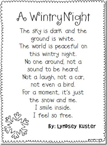 Free Winter Poem