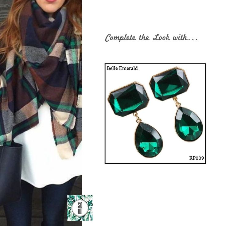 Ref: RP009 Belle Emerald Medidas: 5.5 cm x 2.5 cm So-Oh: 10.99  #sooh_store #onlinestore #style #inspiration #styleinspiration #brincos #earrings #fashion #shoponline #aw2016 #aw1617 #winterstyle