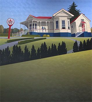 Brian Dahlberg // North Shore Vintage Car Club #Art #Landscape #Oil #Painting #NewZealand