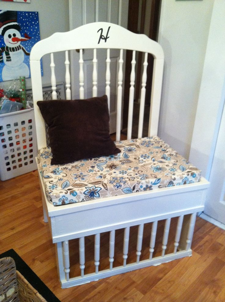 78 best images about crib repurpose on pinterest old cribs board paint and baby changer. Black Bedroom Furniture Sets. Home Design Ideas