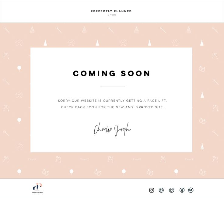 Coming Soon......looking forward to seeing the Perfectly Planned 4 You website live. Feels great to get this coming soon page up.