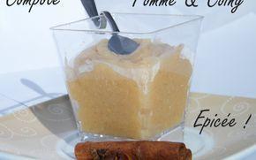 Recette - Compote pomme/coing épicée   Notée 4/5