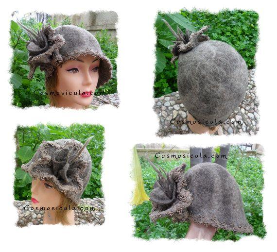Belle epoque  Cappello da donna in feltro lana di Cosmosicula, $111.00