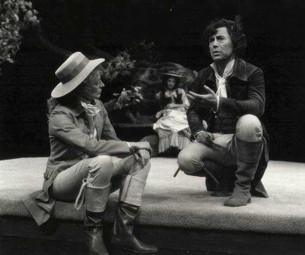 1978 - 'As You Like It' Maggie Smith as Rosalind with Brian Bedford as Jaques. Stratford Festival Theatre, ONTARIO
