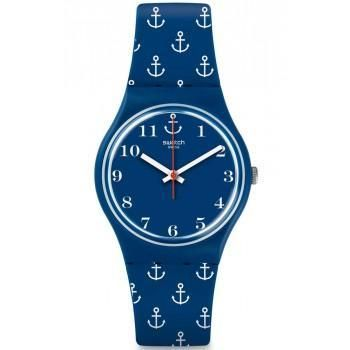SWATCH Achor Baby - GN247 Blue Case, with Blue Rubber Strap