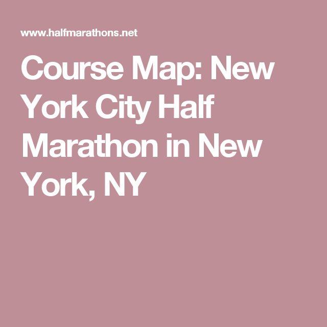 Course Map: New York City Half Marathon in New York, NY