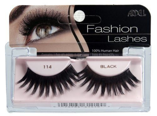 Ardell Fashion Lashes Pair - 114 (Pack of 4) by Ardell. Save 2 Off!. $13.69. Easy to apply. May be re-used up to three weeks. Stay secure until you take them off. 100% Human Hair. Comfortable to wear. Ardell fashion lashes look so real, so natural that others think you were born with beautiful, lush eyelashes.  made of 100% sterilized human hair, each lash strip is knotted and feathered by hand to achieve the highest quality.  when used with ardell lashgrip eyelash adhesive, ...