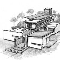 Architecture House Sketch Design Modren Architecture House Design