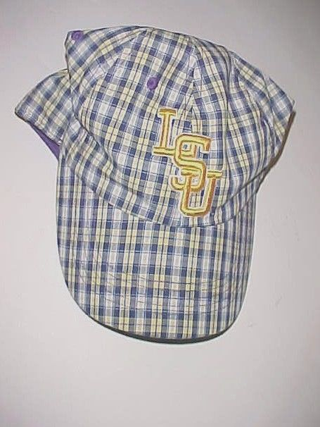 LSU Tigers Football NCAA SEC Adult Unisex Purple Checkered Baseball Cap One Size #Captivating #BaseballCap