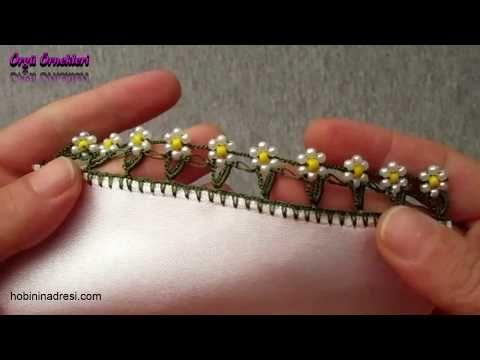 İnci Boncuklu Tığ Oyası Yapımı - YouTube