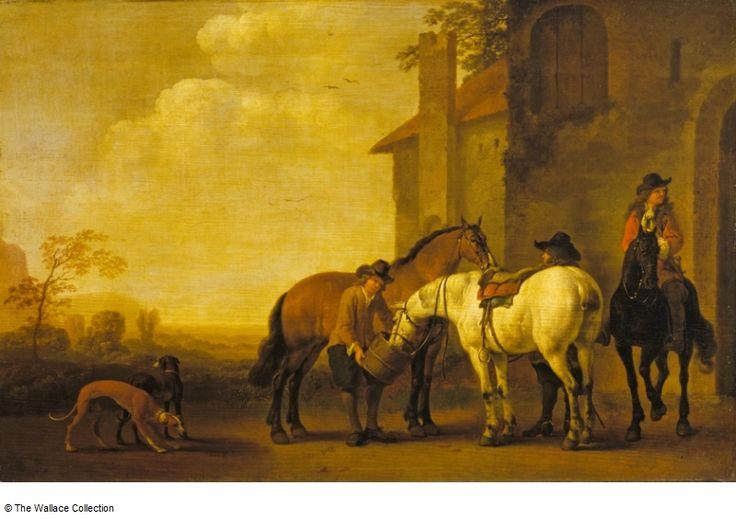 Calraet, Abraham van - Halt at an Inn Остановка в Inn. Собрание Уоллес , Лондон, Великобритания