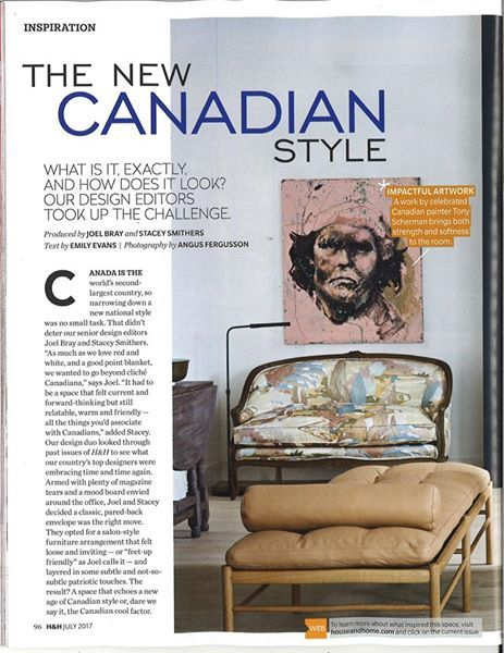 Loving our settee appearing in the July issue of House & Home. #madeforyou #beautiful #Canadian