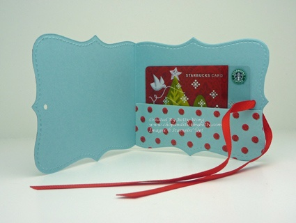 Gift card holder from a Top Note