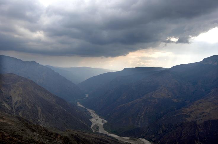 Vista del majestuoso Camón del Chicamocha. (Archivo/VANGUARDIA LIBERAL)