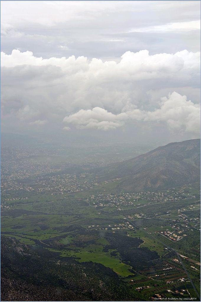 Flying over Attica