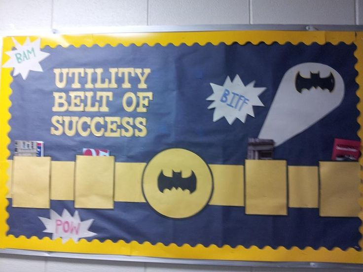 Batman bulletin board! :D | Super Hero Classroom | Pinterest