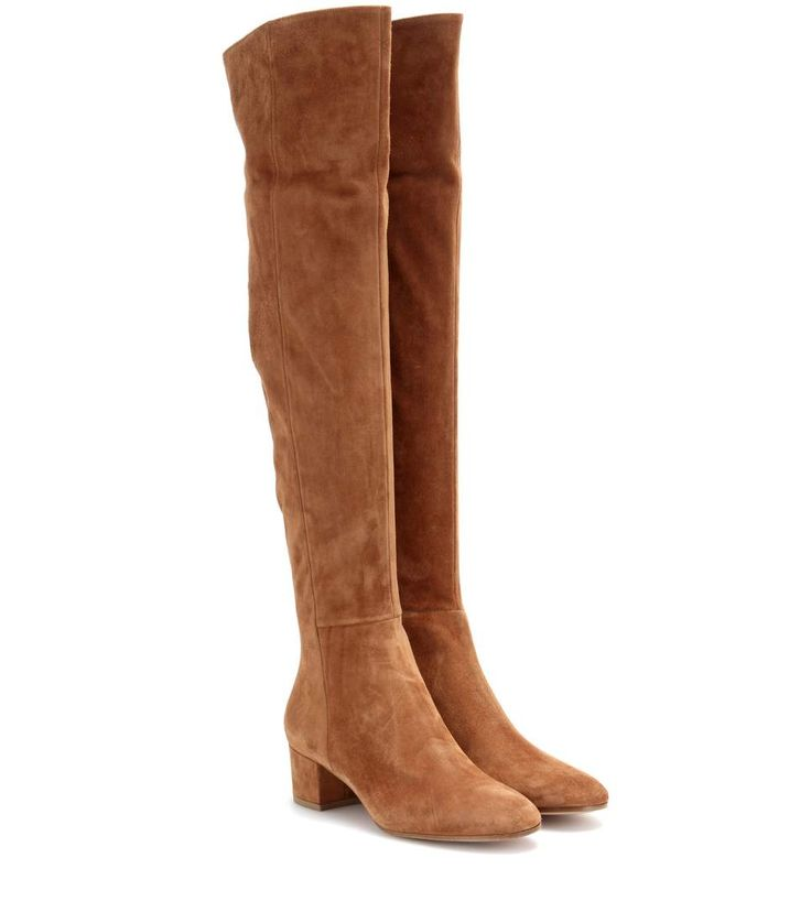 mytheresa.com - Suede over-the-knee boots - Luxury Fashion for Women / Designer clothing, shoes, bags