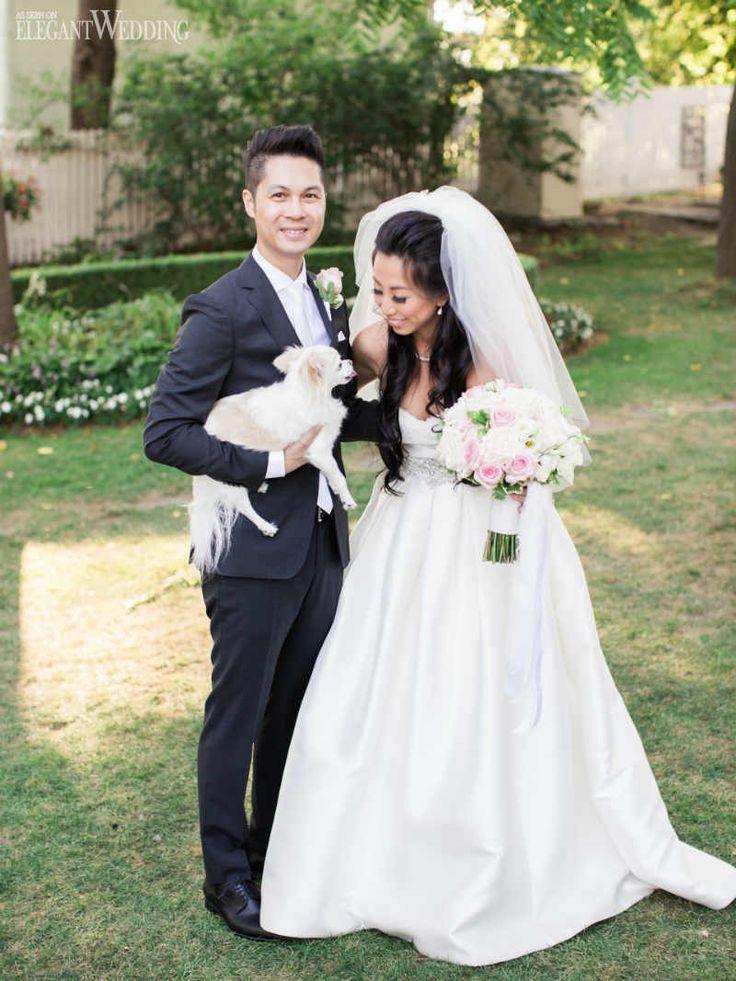 Pale Pink Wedding Featuring a Floral Arch | ElegantWedding.ca