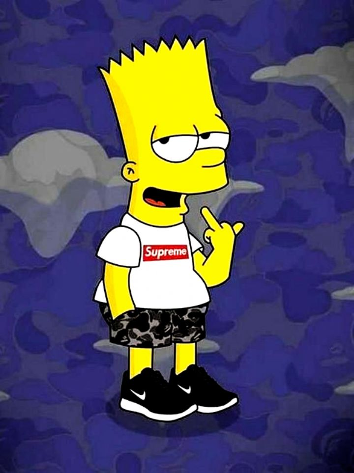 Supreme X Bart Simpson Wallpaper HD for Android - APK ...