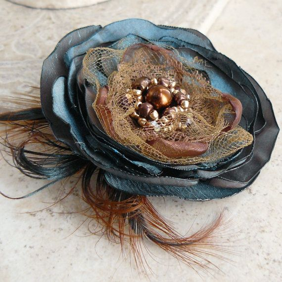 Kismet Layered Flower Brooch Pin Accessory or Hair ❤ by Viridian