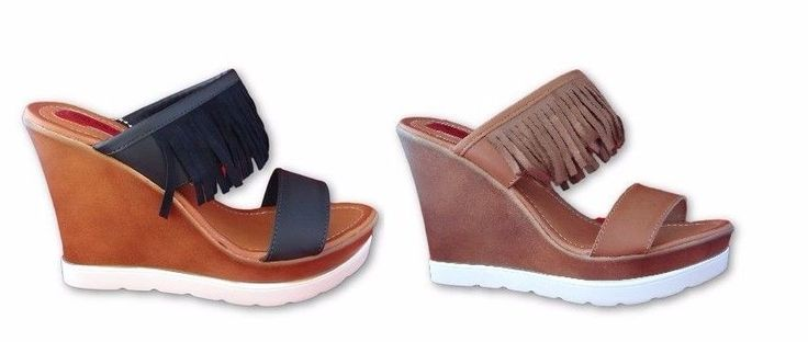 New Women's High Hee Wedges Platforms Slip On Mules Sandals Casual Shoes BUY 1, GET 1 AT 40% OFF http://stores.ebay.co.uk/Shoes-Alley-Shop?_trksid=p2047675.l2563