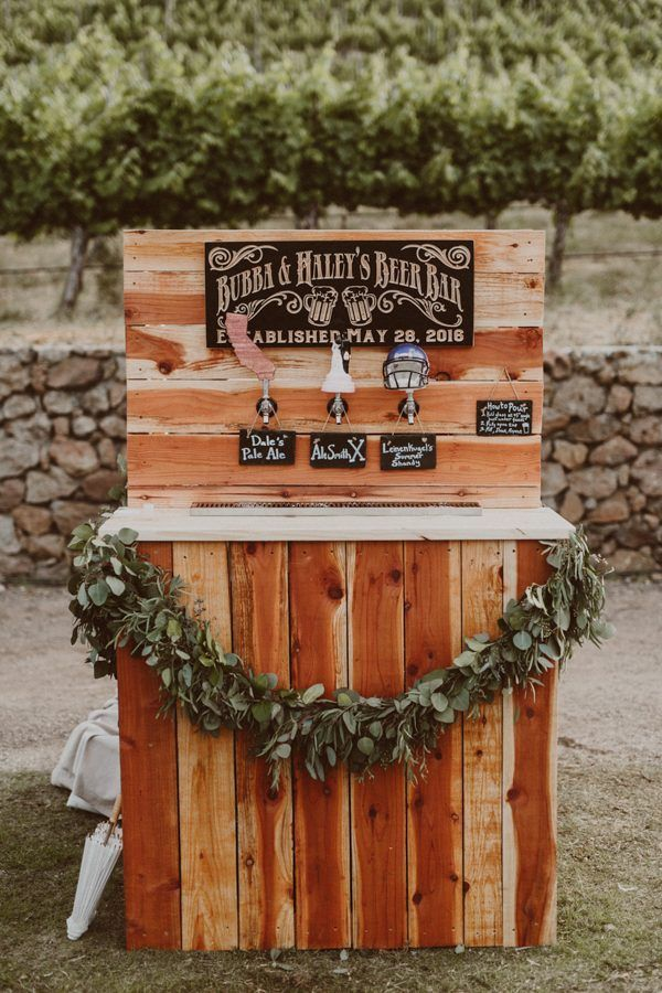 The Bar Trend You're About to See Popping Up at Country Weddings Have your very own beer bar at your wedding - pro wedding invites