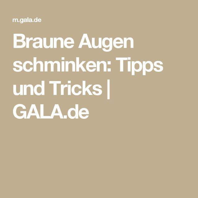 Braune Augen schminken: Tipps und Tricks | GALA.de