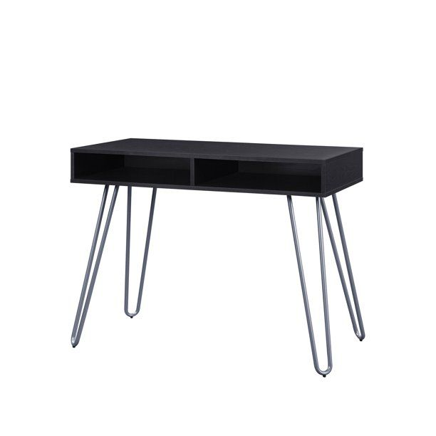 Mainstays Hairpin Writing Desk Multiple Finishes Walmart Com In 2020 Writing Desk Desk Hair Pin Desks