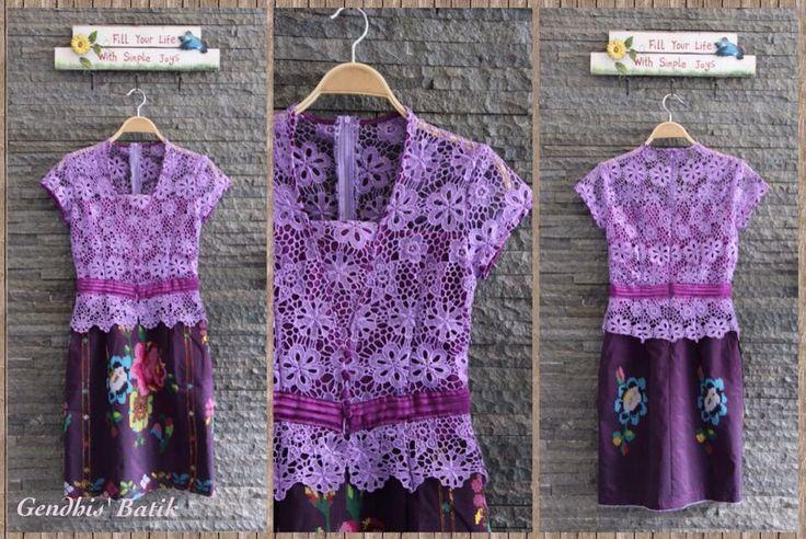 Tenun Lagosi Makassar + Lace prads benang halus + lining Tricot + furing. By Gendhis Batik