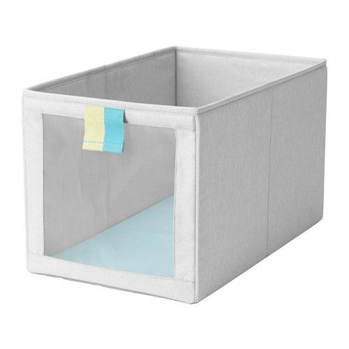 IKEA - SLÄKTING, Rangement tissu, , S'adapte parfaitement au système de rangement STUVA. Peut aussi être utilisé comme rangement indépendant pour des vêtements et petits objets.Le filet de la face avant vous permet de voir rapidement le contenu de la boîte.Facile à tirer, grâce à la boucle de devant.Se replie et permet de gagner de la place quand on ne l'utilise pas.